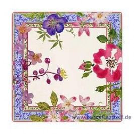 Gien Millefleurs Square Platter, Small 17 x 17 cm