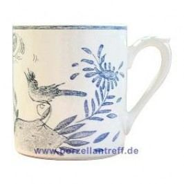 Gien Oiseau Bleu monochrome Mug with Handle 0.30 l