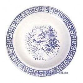 Gien Oiseau Bleu monochrome Round Platter Deep 31 cm