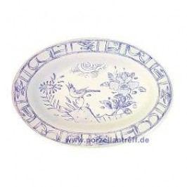 Gien Oiseau Bleu monochrome Side Dish 23.3 x 16.2 cm