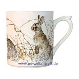 Gien Sologne Mug with Handle Motifs Rabbit 0.30 l