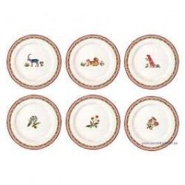 Gien Jardin Imaginaire Breakfast Plate Motifs Sorted 23.2 cm