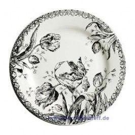 Gien Tulipes Noires Breakfast Plate 21.8 cm