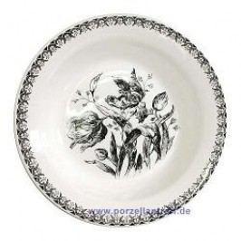 Gien Tulipes Noires Soup Plate 23 cm