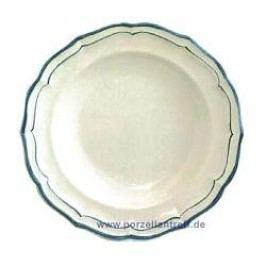 Gien Filets Bleus Soup Plate 22.5 cm