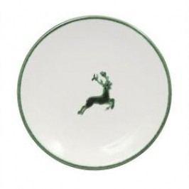 Gmundner Ceramics Green Deer Espresso Saucer Smooth 11 cm