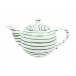 Gmundner Keramik Grüngeflammt Tea pot plain 1.5 l