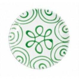 Gmundner Keramik Grüngeflammt Breakfast plate cup 20 cm