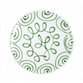 Gmundner Keramik Grüngeflammt Dinner plate cup 25 cm