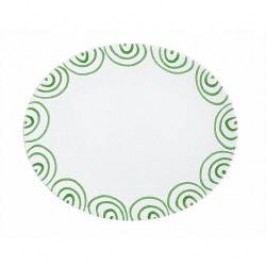 Gmundner Keramik Grüngeflammt Platter oval 38 cm