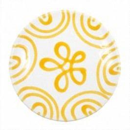 Gmundner Keramik Gelbgeflammt Saucer Cup 15 cm