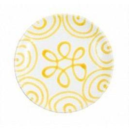 Gmundner Keramik Gelbgeflammt Breakfast plate Cup 20 cm
