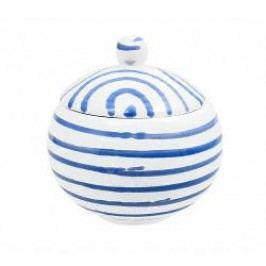 Gmundner Keramik Blaugeflammt Sugar bowl plain 10 cm