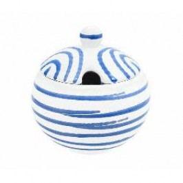 Gmundner Keramik Blaugeflammt Sugar bowl with indent 10 cm