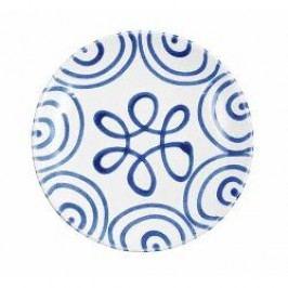 Gmundner Keramik Blaugeflammt Breakfast plate Cup 20 cm