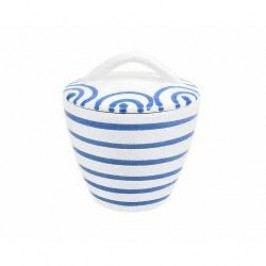Gmundner Keramik Blaugeflammt Sugar bowl Gourmet 9 cm
