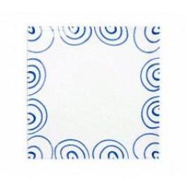 Gmundner Keramik Blaugeflammt Charger plate / underplate square 31 cm