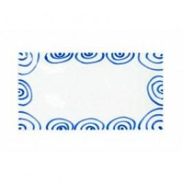 Gmundner Keramik Blaugeflammt Platter rectangular 36 x 15 cm