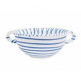 Gmundner Keramik Blaugeflammt Bowl Weitling with handles 25 cm