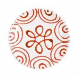Gmundner Keramik Rotgeflammt Breakfast Plate Cup 20 cm