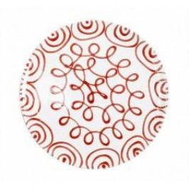 Gmundner Keramik Rotgeflammt Dinner Plate Cup 28 cm