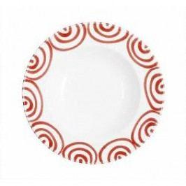Gmundner Keramik Rotgeflammt Soup Plate Gourmet 24 cm