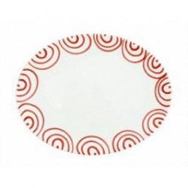 Gmundner Keramik Rotgeflammt Platter oval 28 cm