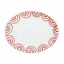 Gmundner Keramik Rotgeflammt Oval Platter 33 cm