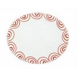 Gmundner Keramik Rotgeflammt Oval Platter 38 cm