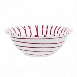 Gmundner Keramik Rotgeflammt Salad Bowl 26 cm