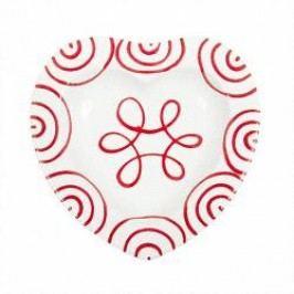 Gmundner Keramik Rotgeflammt Bowl Heart 10 cm