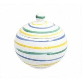Gmundner Keramik Buntgeflammt Sugar bowl 10 cm