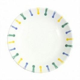 Gmundner Keramik Buntgeflammt Soup plate Cup 20 cm
