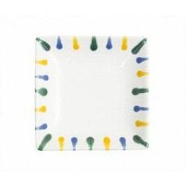 Gmundner Keramik Buntgeflammt Snack tray 11 x 11 cm