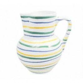 Gmundner Keramik Buntgeflammt Jug Wiener Form 1.5 l