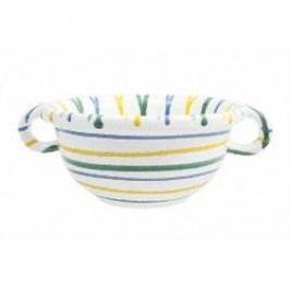 Gmundner Keramik Buntgeflammt Bowl Weitling with handles 17 cm