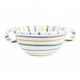 Gmundner Keramik Buntgeflammt Bowl Weitling with handles 25 cm