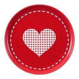 Friesland Happymix Weihnachten Rot Breakfast plate 'Herz', 19 cm