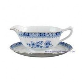 Seltmann Weiden Dorothea China Blue Sauciere / Gravy Boat 0.40 l