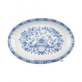 Seltmann Weiden Dorothea China Blue Oval Platter 35 cm