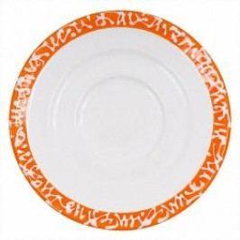 Gmundner Keramik Selektion Orange Espresso cup saucer Gourmet 11 cm