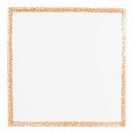 Gmundner Keramik Selektion Orange Charger plate / underplate square 31 cm