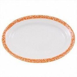 Gmundner Keramik Selektion Orange Platter oval Gourmet 21 cm