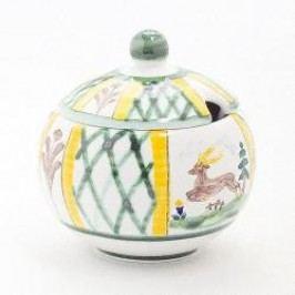 Gmundner Keramik Jagd Sugar bowl with indentation 10 cm