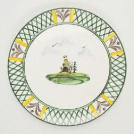 Gmundner Keramik Jagd Dinner plate Cup 32 cm