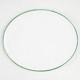 Gmundner Ceramics Green Rim Oval Platter 38 cm