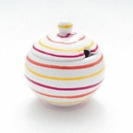 Gmundner Ceramics Landlust Sugar Bowl Smooth with Cutout 10 cm