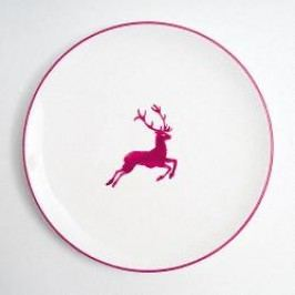 Gmundner Ceramics Red Deer Dinner Plate Cup 25 cm