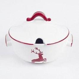 Gmundner Ceramics Red Deer Soup Terrine Smooth 2 l