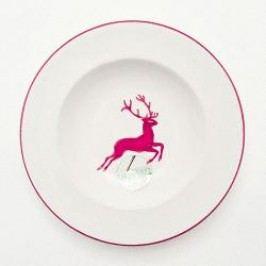 Gmundner Ceramics Red Deer Soup Plate Gourmet 24 cm